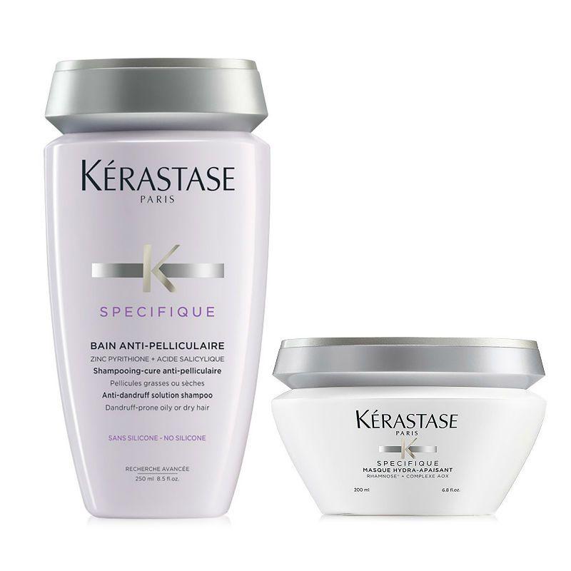 Kérastase Specifique Shampoo + Haarmasker Anti-Roos & voor een Gevoelige Hoofdhuid