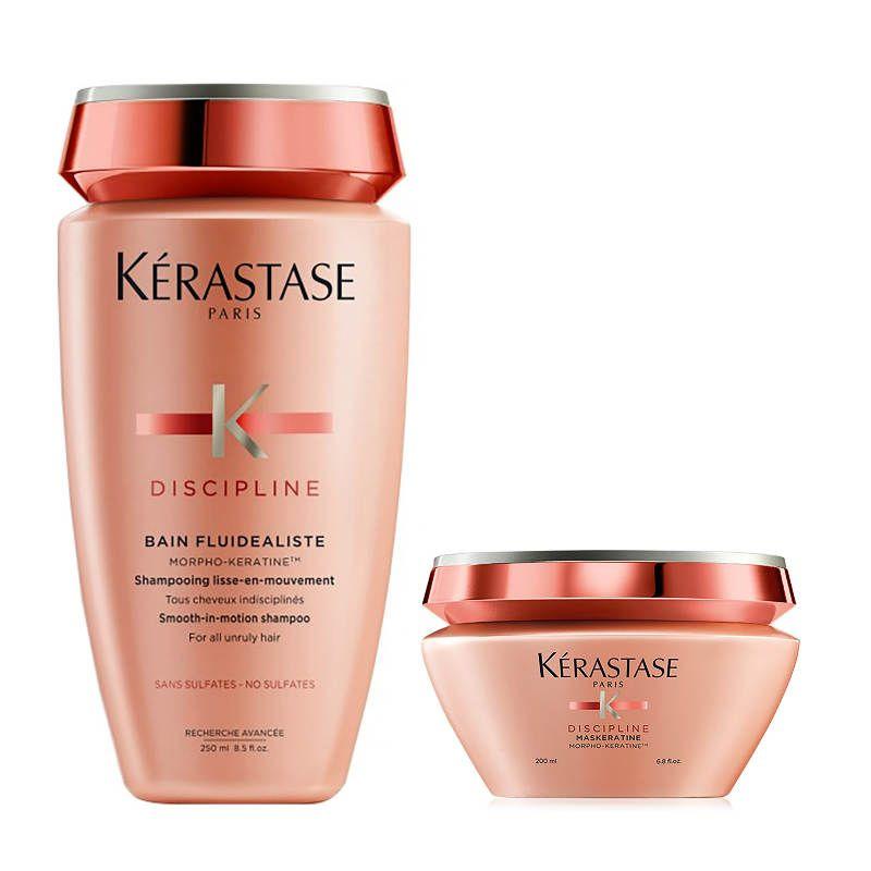 Kérastase Discipline Shampoo + Haarmasker voor Onhandelbaar Haar Sulfaatvrij