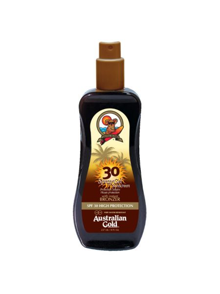 Australian Gold SPF30 Spray Gel met Bronzer