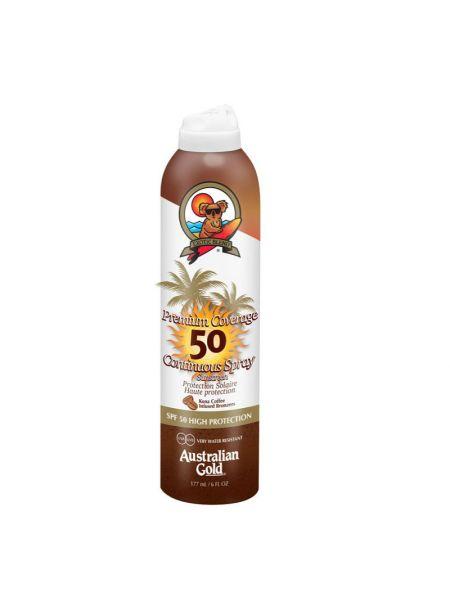 Australian Gold SPF50 Premium Coverage Continuous Spray met Bronzer