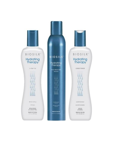 Biosilk Hydrating Therapy Drench Styling Kit