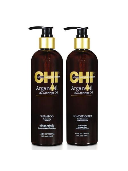 CHI Argan Oil Duo Shampoo+ Conditioner 355ml