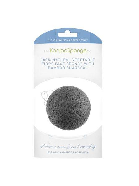 Konjac Sponge Company Facial Puff Sponge Bamboo Charcoal