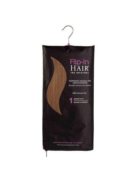 Flip-In Hair Extensions The Original Golden Brown 6
