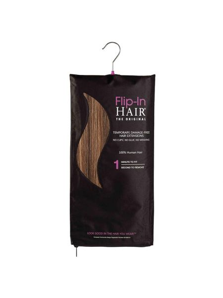 Flip-In Hair Extensions The Original Rich Brown/Butterscotch 4/27