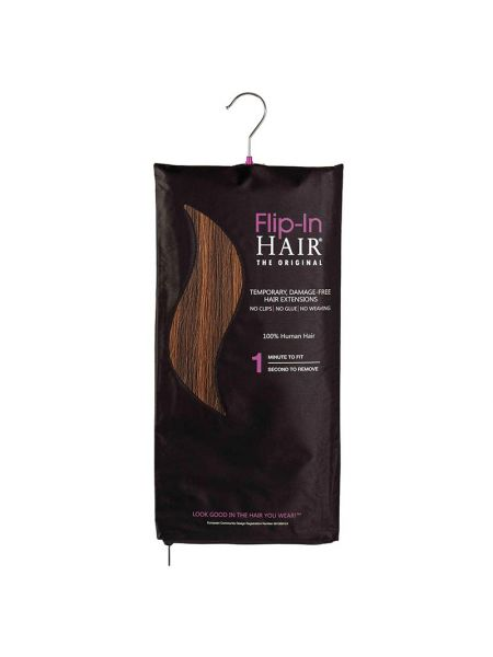 Flip-In Hair Extensions The Original Rich Brown/Light Auburn 4/30