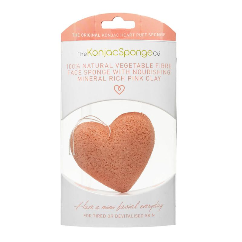 The KonjacSponge The Original Konjac Heart Puff Sponge