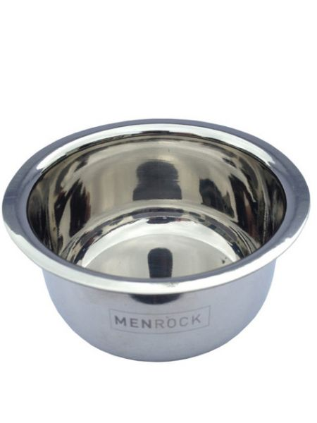 Men Rock Stainless Steel Shaving Bowl