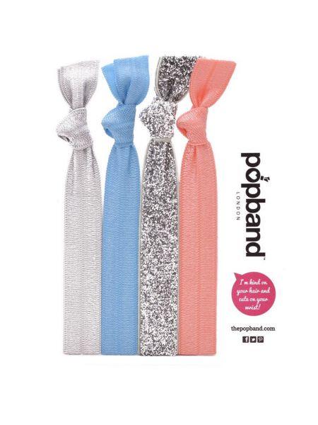 Popband London Multipack Spring Haarelastieken
