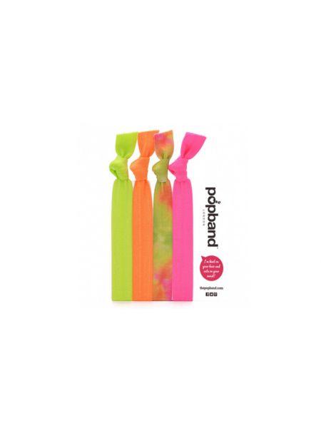 Popband London Multipack Neon Haarelastieken