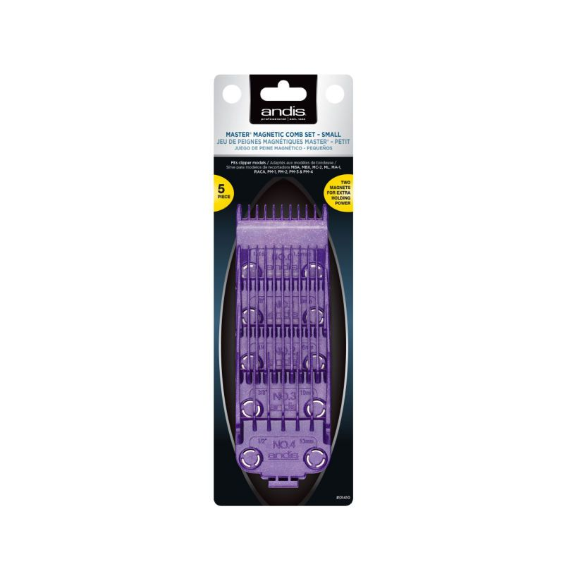 Andis Single Magnet Small Attachment Combs 5-kammen Set