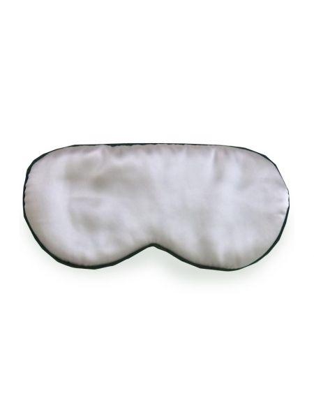 Silk Avenue Zijden Slaapmasker Zwart/Ivoor