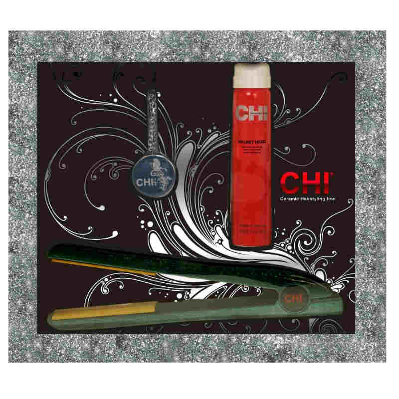 CHI Limited Edition Emerald Glitter Hairstyling Iron