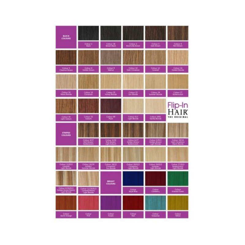 Flip-In Hair Colour Sample